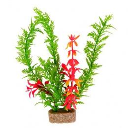 Декоративное растение для аквариума - Trixie Plants with Sand Base / Пластиковое растение на песочной основе L