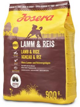 Barība suņiem - Josera Adult ar jēru un rīsiem, 900 g