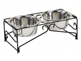 Штатив с мисками - Pawise Double Diner Feeder, 2*350 мл
