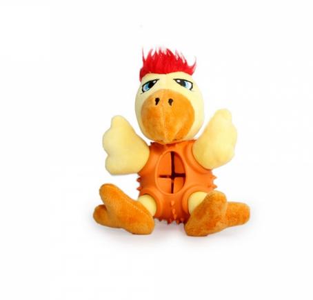 Rotaļlieta suņiem – AFP Treat Hider Rooster Body title=