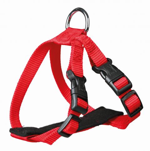 Шлейка с поводком для кошек - Trixie Car harness for cats, 20–50 см/15 мм, red title=