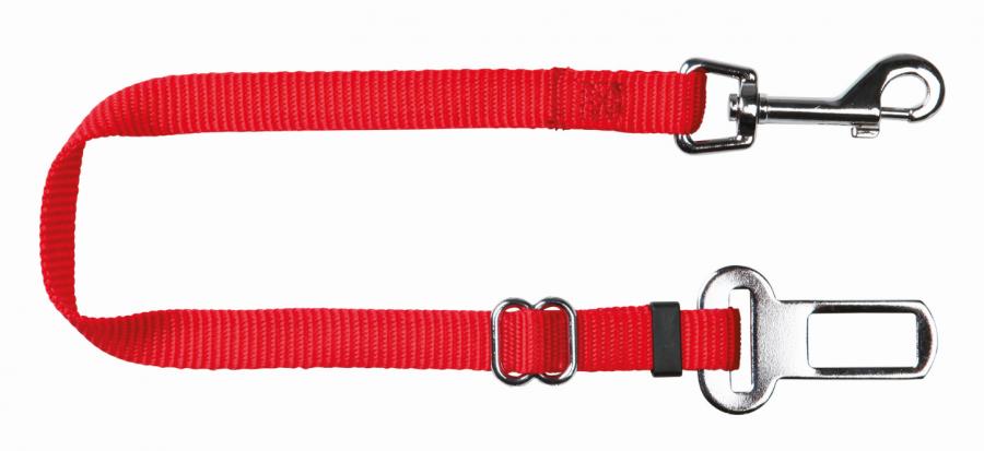 Шлейка с поводком для кошек - Trixie Car harness for cats, 20–50 см/15 мм, red