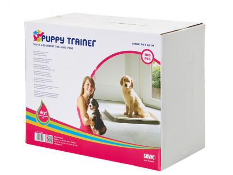 Absorbējošie paladziņi - Savic Puppy Trainer L, 60 x 45 cm, 1 gab. title=