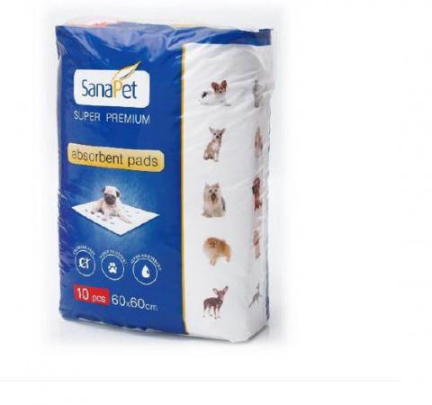 Absorbējošie paladziņi Sana-Pet Premium 60*60cm - 10gab