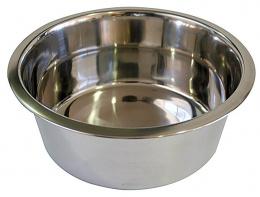 Металлическая миска для собак - Trixie cтальная миска, 0.9 l/15 cm