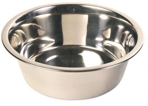 Металлическая миска для собак - Trixie стальная миска, 0.45 l/12 cm