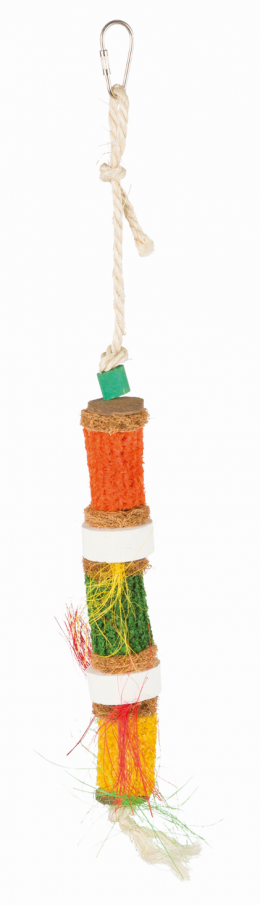 Rotaļlieta putniem - Natural Toy with Sisal Rope, 30 cm