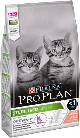 Корм для котят - Pro Plan STERILISED Cat Salmon START, 1.5 кг