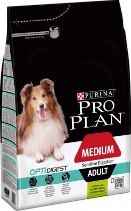 Barība suņiem - Pro Plan Medium Adult Sensitive Digestion Lamb, 3 kg