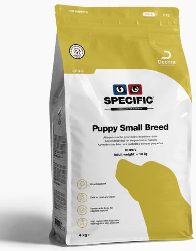 Ветеринарный корм для щенков - Specific CPD-S Puppy Small Breed, 4 кг title=