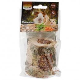 Papildbarība grauzējiem – Nature Land Nibble, Wooden Roll with Carrot, 150 g