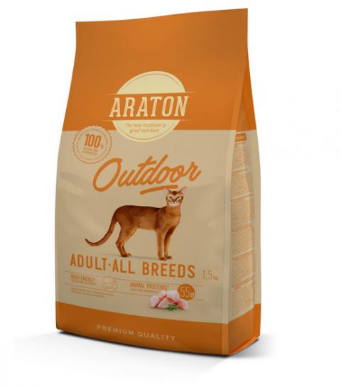 Barība kaķiem - Araton Cat Adult Outdoor, 1.5 kg title=