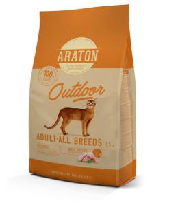 Barība kaķiem - Araton Cat Adult Outdoor, 1.5 kg