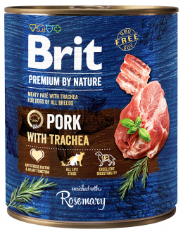 Консервы для собак - Brit Premium Pork with Trachea, 800 г