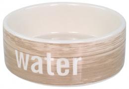Керамическая миска для воды - Dog Fantasy, с узором под дерево, 12,5 см (0,28 л)