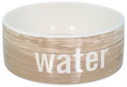 Keramikas bļoda ūdenim – Dog Fantasy Ceramic Bowl, Wood Pattern, 16 cm
