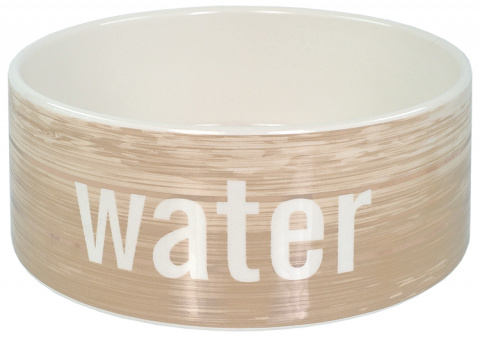 Керамическая миска для воды – Dog Fantasy Ceramic Bowl, Wood Pattern, 20 см title=