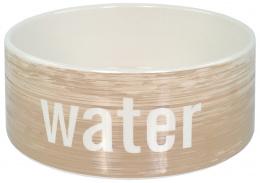 Керамическая миска для воды – Dog Fantasy Ceramic Bowl, Wood Pattern, 20 см