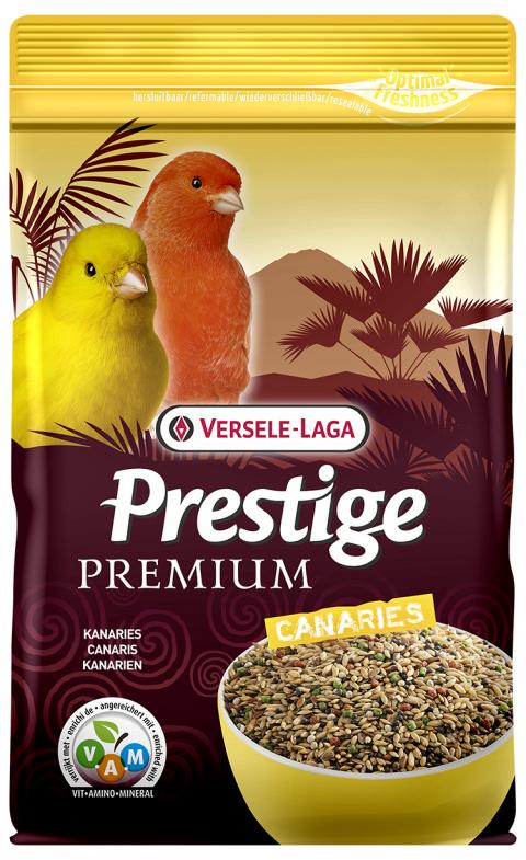 Корм для птиц - Versele-Laga Prestige Premium Canaries, 800 г title=