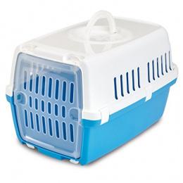 Transportēšanas bokss dzīvniekiem – Savic, Zephos, pacific blue - white, 49,5 x 32,5 x 30 cm