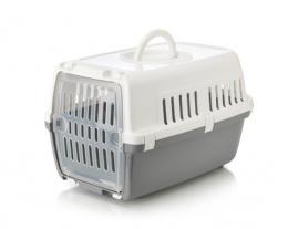 Transportēšanas bokss dzīvniekiem – Savic, Zephos, cold grey - white, 49,5 x 32,5 x 30 cm