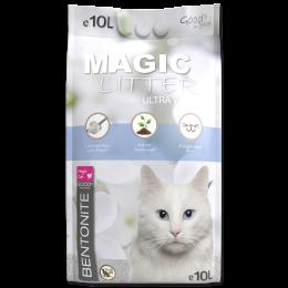Цементирующий песок для кошачьего туалета - Magic Litter Bentonite Ultra White, 10 L