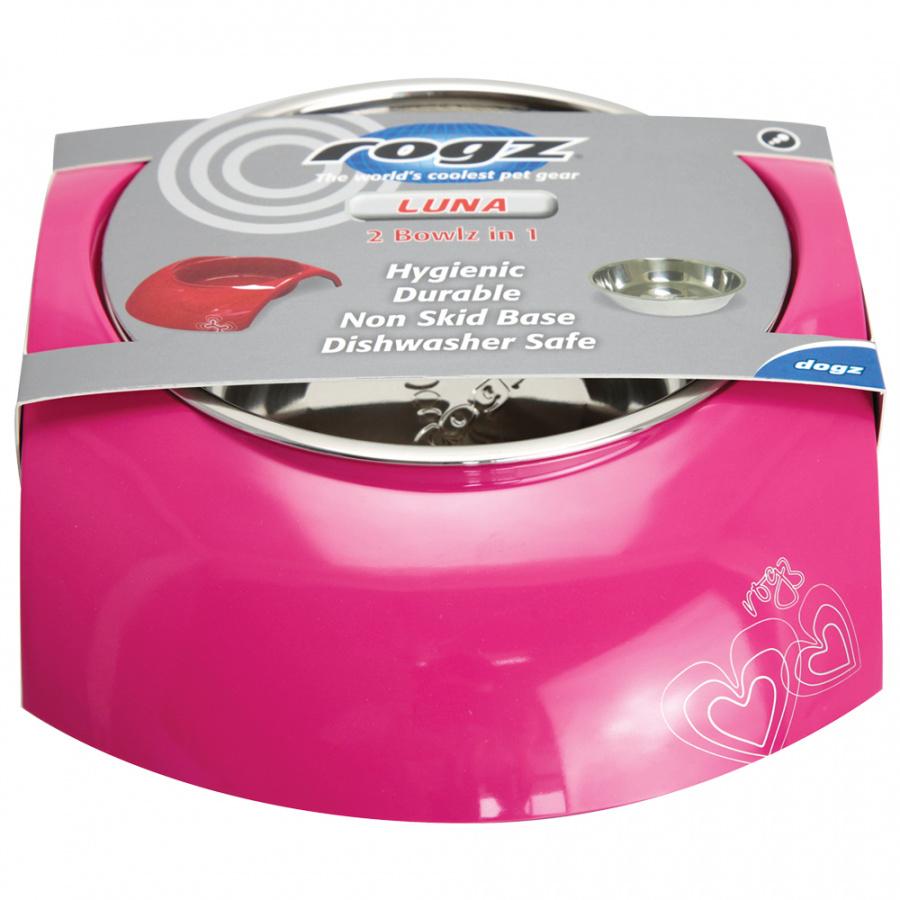 Bļoda suņiem metāla - ROGZ  Luna Cream, 700 ml