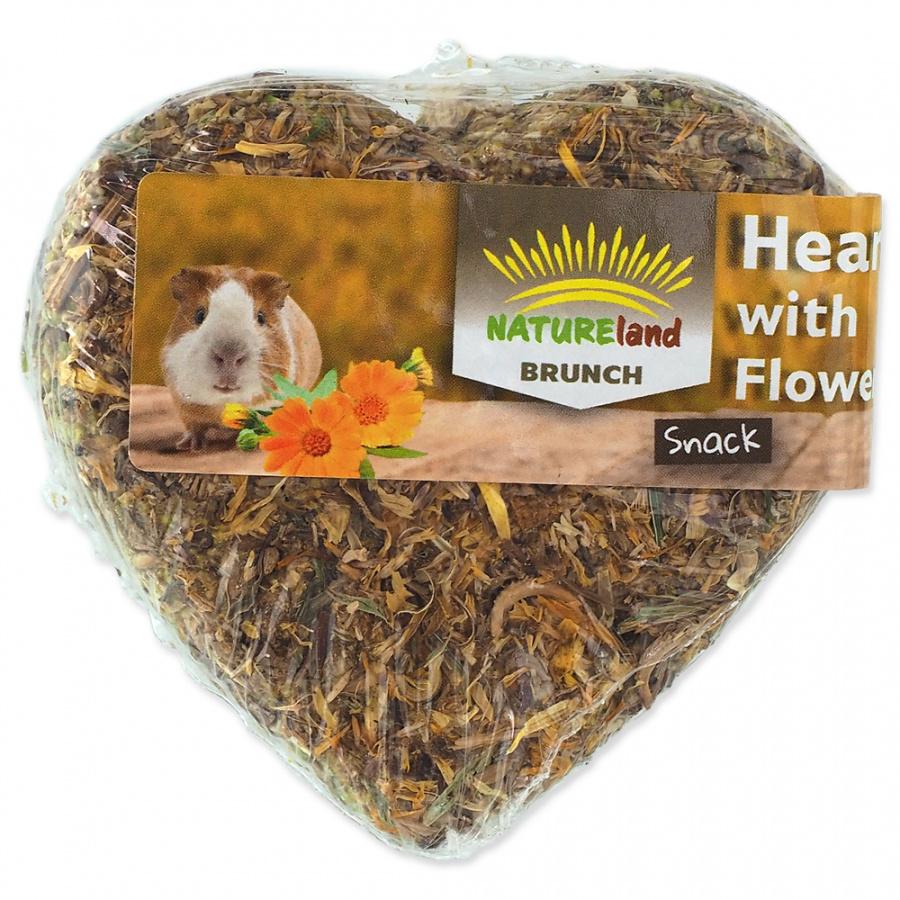 Лакомство для грызунов - Nature Land Brunch Grainfree Heart with flowers, 90 г