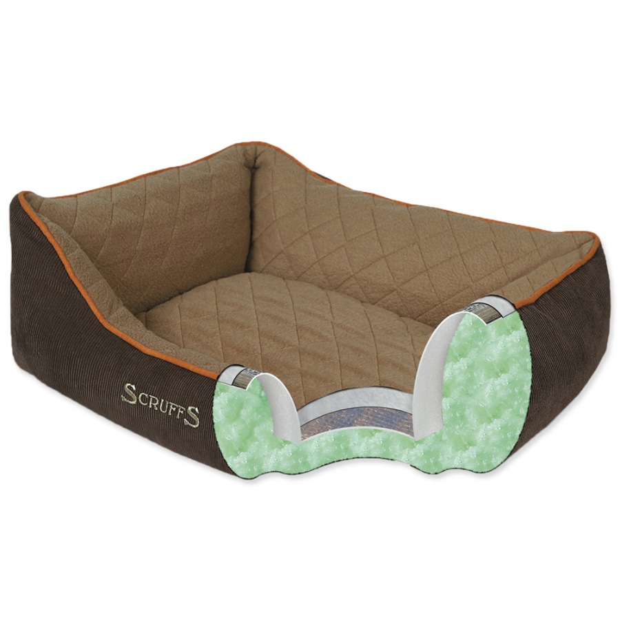 Guļvieta suņiem – Scruffs Thermal Box Bed (M), 60 x 50 cm, Brown