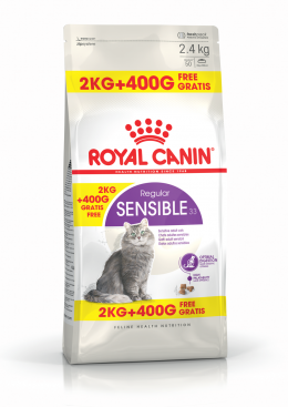 Bar­ība kaķiem - Royal Canin Feline Sensible, 2+0.4 kg