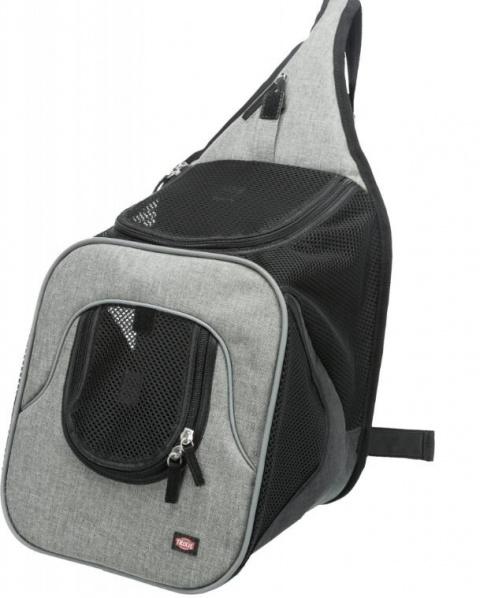 Mugursoma dzīvnieku pārnesāšanai - Trixie Savina Front Carrier, 30 × 33 × 26 cm, black/grey title=