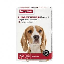 Pretblusu, pretērču kaklasiksna suņiem – Beaphar, Ungezieferband For Dog, 65 cm, (sarkana), bezrecepšu vet.zāles reģ. NR: VA - 072463/3