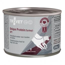 Veterinārie konservi kaķiem un suņiem - Trovet UPT Unique Protein Turkey, 200 g