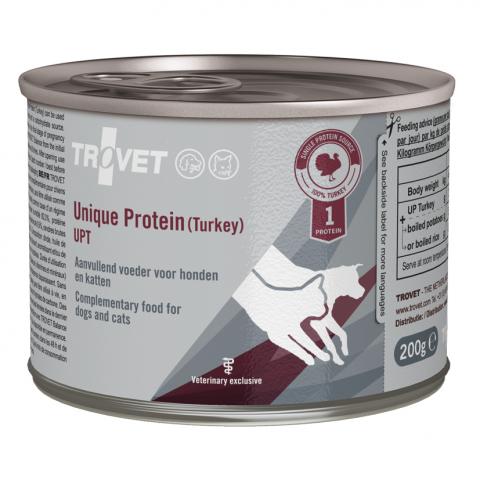 Ветеринарные консервы для собак и кошек - Trovet UPT Unique Protein Turkey, 200 г