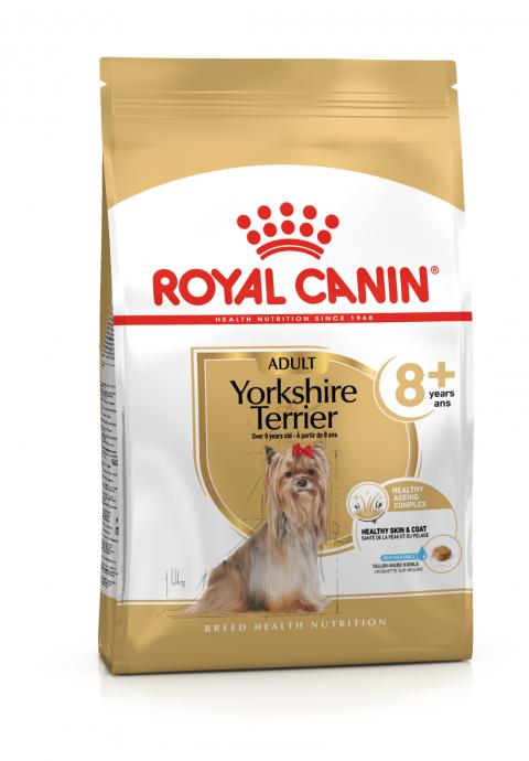 Корм для собак - Royal Canin Yorkshire Terrier Adult 8+, 1,5 кг title=