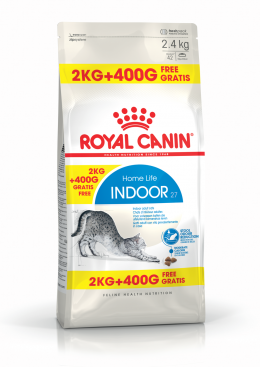 Bar­ība kaķiem - Royal Canin Feline Indoor, 2+0,4 kg