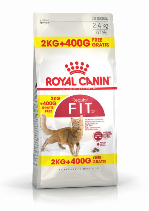Barība kaķiem - Royal Canin Feline Fit, 2+0,4 kg title=