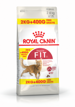 Barība kaķiem - Royal Canin Feline Fit, 2+0,4 kg