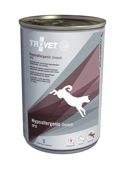 Ветеринарные консервы для собак - Trovet IPD Hypoallergenic Insect, 400 г title=