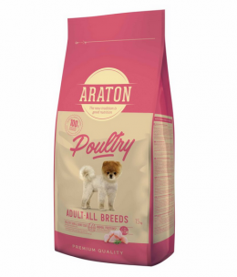 Barība suņiem - Araton Dog Adult Poultry, 15 kg