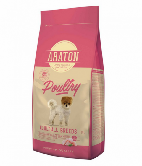 Корм для собак - Araton Dog Adult Poultry, 15 кг