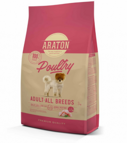 Корм для собак - Araton Dog Adult Poultry, 3 кг