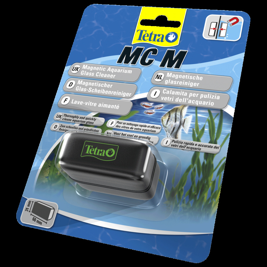 Магнитная губка для стекол аквариума - Magnet Tetra Floating M, 6 x 3,1 см