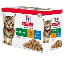 Консервы для котят - Hill's Feline Kitten Multipack Chicken and Ocean Fish, 12*85 г