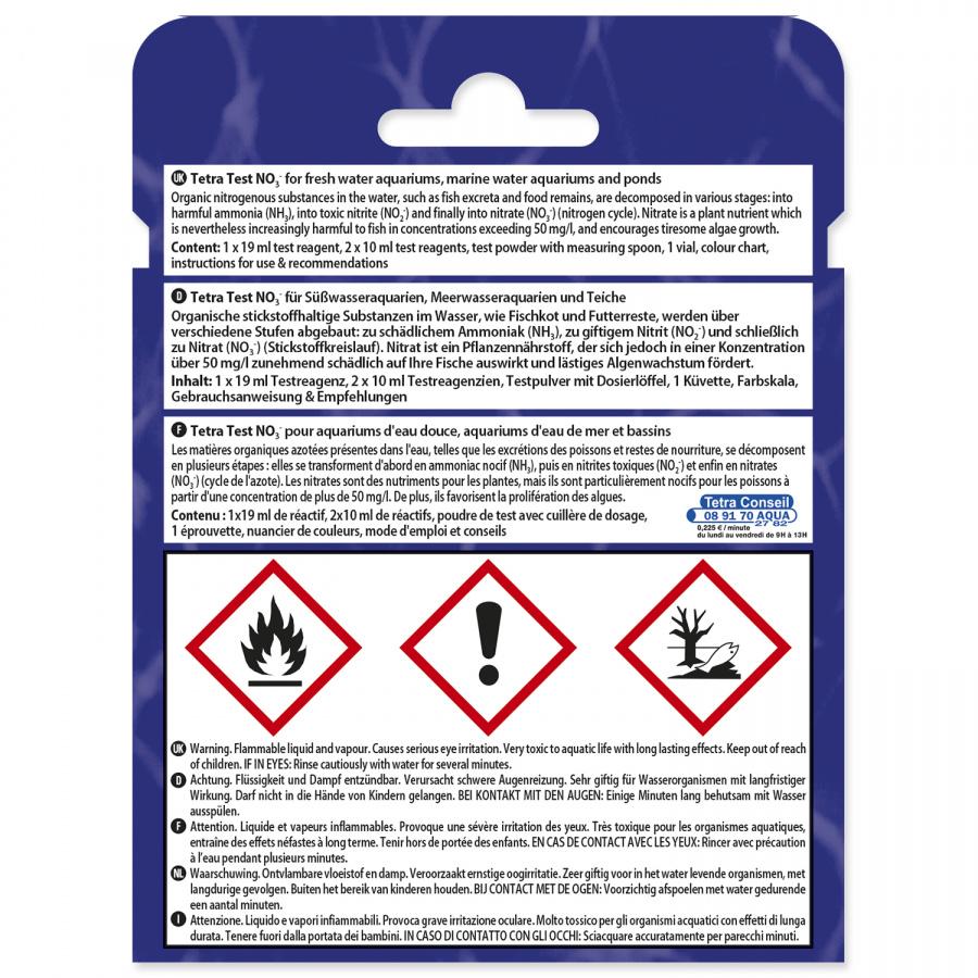 Nitrātu tests akvārija ūdenim - Tetra NO3 test, 10 ml
