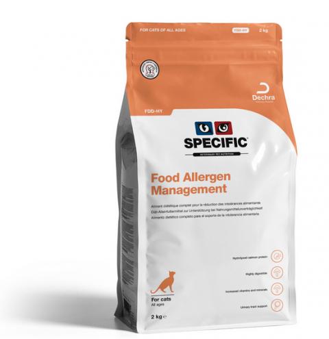 Ветеринарный корм для кошек - Specific FDD-HY Food Allergy Management, 2 кг