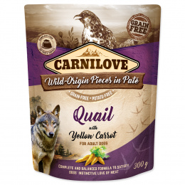 Konservi suņiem - Carnilove Quail with Yellow Carrot, 300 g