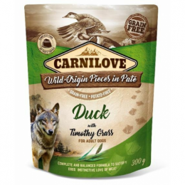 Konservi suņiem - Carnilove Duck with Timothy Grass, 300 g