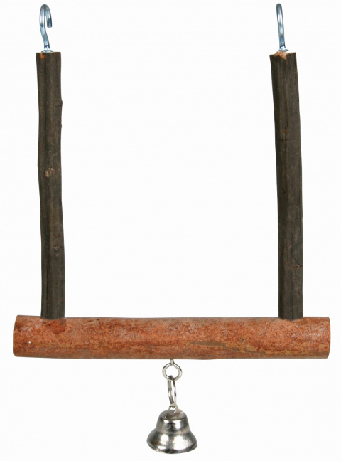 Качели для птиц - TRIXIE Natural Living swinging trapeze with bell, 12 x 15 см title=