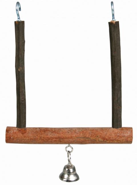 Rotaļlieta putniem - TRIXIE Natural Living swinging trapeze with bell, 12 x 15 cm